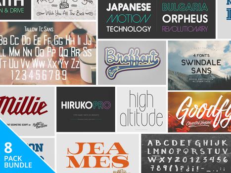 Pay What You Want: The Designer's Fantastic Font Bundle | 100+ fonts! | Design Freebies & Deals | Scoop.it