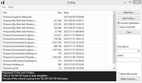 Comment créer un volume TrueCrypt directement depuis un fichier ou un dossier ? | Korben | Geeks | Scoop.it