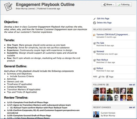 Plow, Seed, Grow: 3 Keys To Online Collaboration & Crowd-Sourcing | Yammer Blog | Global Brain | Scoop.it