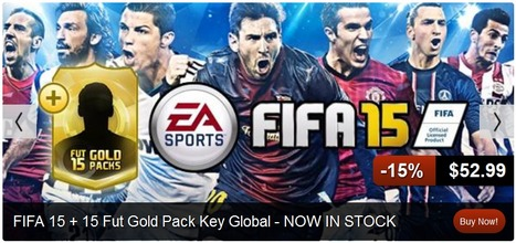 In Stock Now FIFA 15 + 15 Fut Gold Pack Cdkey origin | Exciting Offers of Games, Weekly Giveaway at CD Key House | Scoop.it