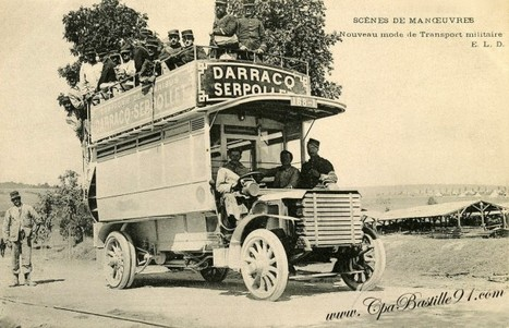Carte postale Militaire – Omnibus Darracq et Serpollet | Cartes Postales Anciennes | GenealoNet | Scoop.it
