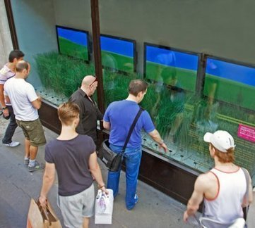 vitrine interactive : la prairie urbaine | Retail Design Review | Scoop.it