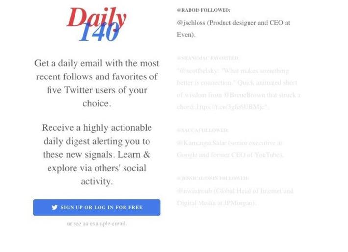 Daily140. Surveillez trois comptes twitter de votre choix – Les outils de la veille | TIC et TICE mais... en français | Scoop.it