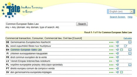 (MULTI) - IATE Term of the Week: Common European Sales Law | TermCoord | Glossarissimo! | Scoop.it