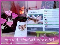 Mise en place de la Vitrine Saint Valentin au Ganesha - Audrey Besson Massage Rennes | Massage et reflexologie | Scoop.it
