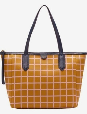 Review Tas Branded Wanita Terbaru: Tas Fossil Sidney Shopper PVC- Mustard Gold | Tas Wanita Cantik | Scoop.it