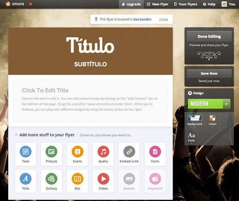 Smore, una vistosa herramienta para crear publicaciones web | Nuevas tecnologías aplicadas a la educación | Educa con TIC | Eskola  Digitala | Scoop.it