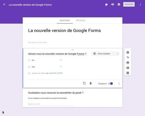 Découvrez la nouvelle version de Google Forms | netnavig | Scoop.it