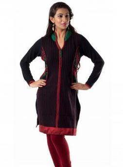 Women Woolen Kurta In Black Color | Women Winter Clothes | Scoop.it