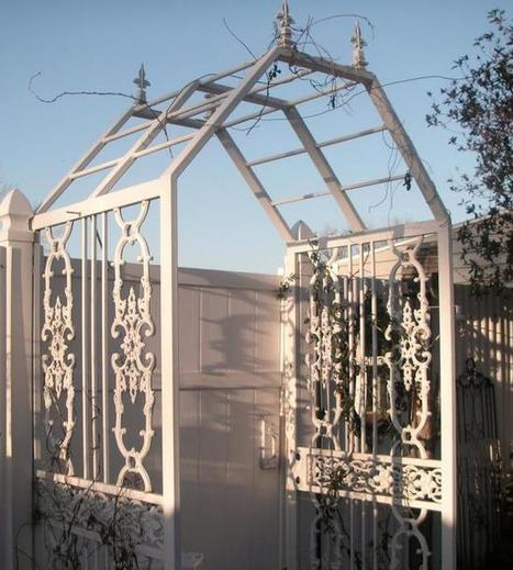 Security doors become an arbor | Upcycled Garden Style | Scoop.it