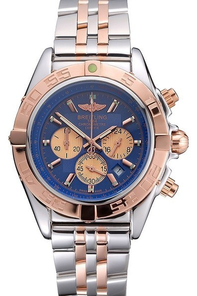 Replica Breitling Chronomat Blue Dial Rose Gold Bezel And Subdials Mens Watch | Men's & Women's Replica Watches Collection Online | Scoop.it