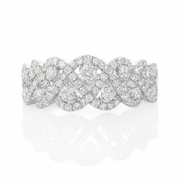 Diamond 18k White Gold Ring | Riveting Rings | Scoop.it