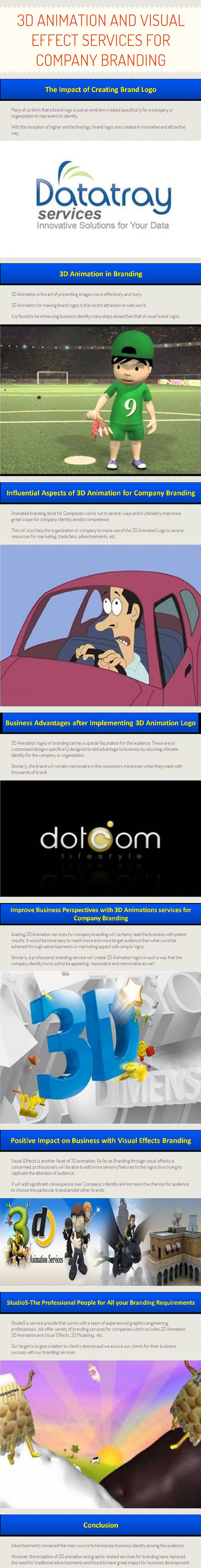 3D Animation and Visual Effect Services for Company Branding by www.thestudio5.com | 3D Animation Services | Scoop.it