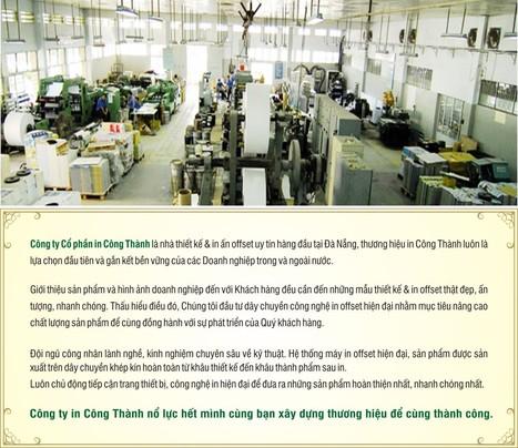 Công ty in Đà Nẵng-Công Ty CP In Công Thành-Cong Thanh Printing JSC | Du lịch Đà Nẵng , du lịch Hội An | Scoop.it