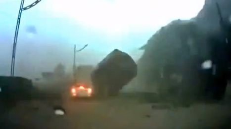 Video: boulder nearly smashes car | Wicked Shit | Scoop.it