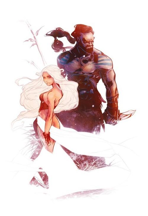 Great GAME OF THRONES Fan Art - Daenerys andDrogo - News - GeekTyrant