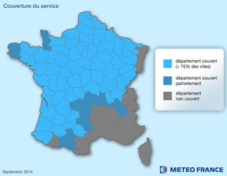 Prévisions de pluie  pour l'heure à venir (Météo-France) | Curiosités planétaires | Scoop.it