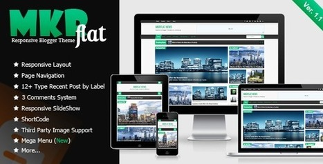 Tech Blog: MKRflat Responsive Magazine/News Blogger Theme | Blogger themes | Scoop.it