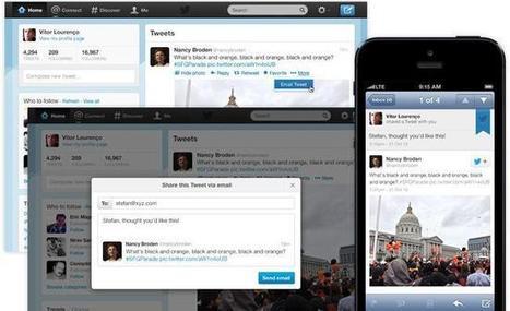 Twitter incorpora la posibilidad de compartir tweets por correo electrónico | Tic, Tac... y un poquito más | Scoop.it