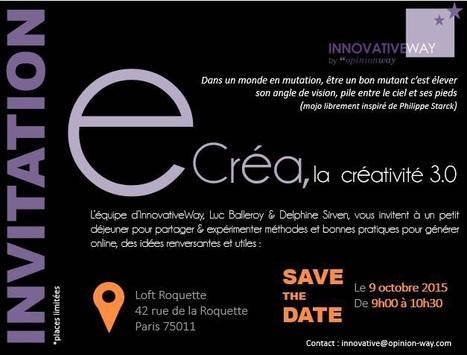 SAVE THE DATE La mise en réseau des intelligence et de la créativité | FuturInProgress | Scoop.it