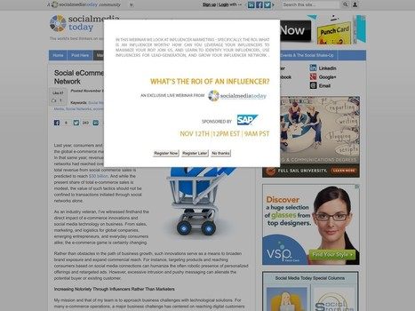 Social eCommerce and the Customer Network | Social Media Today | Social Discovery | Scoop.it