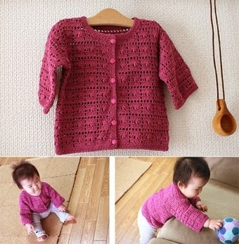 Baby Clothes Cardigan (6-12 months) | Wool Crochet Pattern | Scoop.it