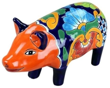 Small Talavera Pig | Mexican Decor & Accessories | Scoop.it