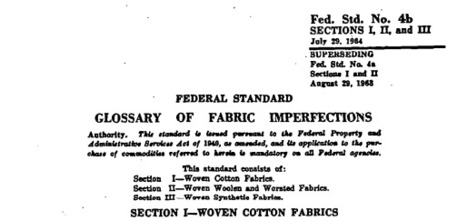(EN) (PDF) - GLOSSARY of FABRIC IMPERFECTIONS | FED-STD-4B | Glossarissimo! | Scoop.it