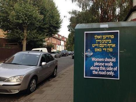Stamford Hill council removes 'unacceptable' posters telling women which side of the road to walk down | Cultural Geography | Scoop.it