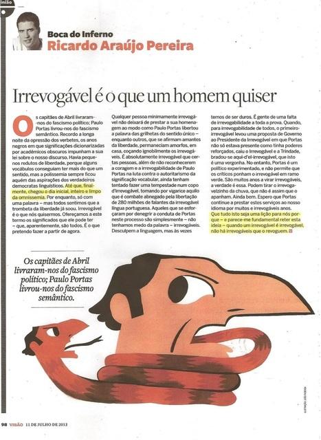 Genial »»» Ricardo Araújo Pereira :: Irrevogável é o que um homem quiser | Saif al Islam | Scoop.it