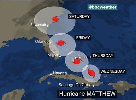 Les Etats-Unis redoutent désormais l'arrivée de l'ouragan Matthew | Risques environnement & santé, changement climatique, risques liés aux modes de vie contemporains | Scoop.it