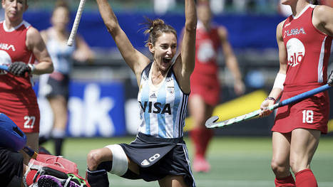 WOMEN 3/4th: Lucha defies pain to lead Las Leonas to bronze | Hockey World Cup 2014 | Scoop.it