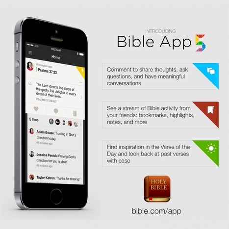 Why YouVersion's Bible App 5 is a Step Forward in Bible Engagement - Christian Media Magazine | Troy West's Show Prep | Scoop.it