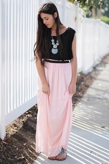 draped elastic maxi skirt | Online shopping store | Scoop.it