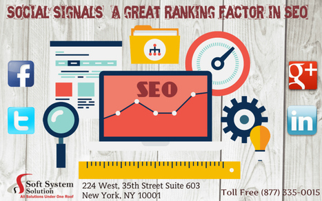 Social signals- A great ranking factor in SEO!   Soft System Solution   Scoop.it