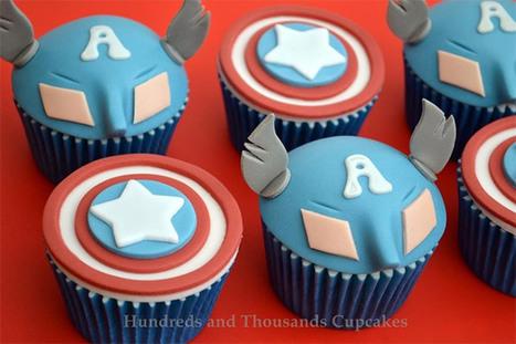 Captain America Cupcakes: Cuptain Americake | All Geeks | Scoop.it