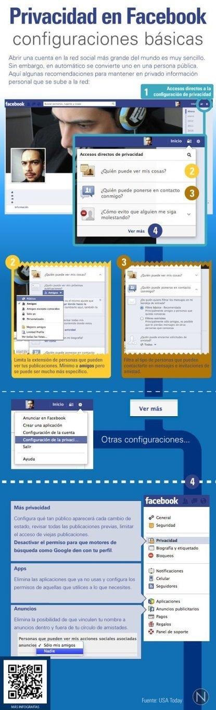 Privacidad en FaceBook: configuraciones básicas   Educomunicación   Scoop.it