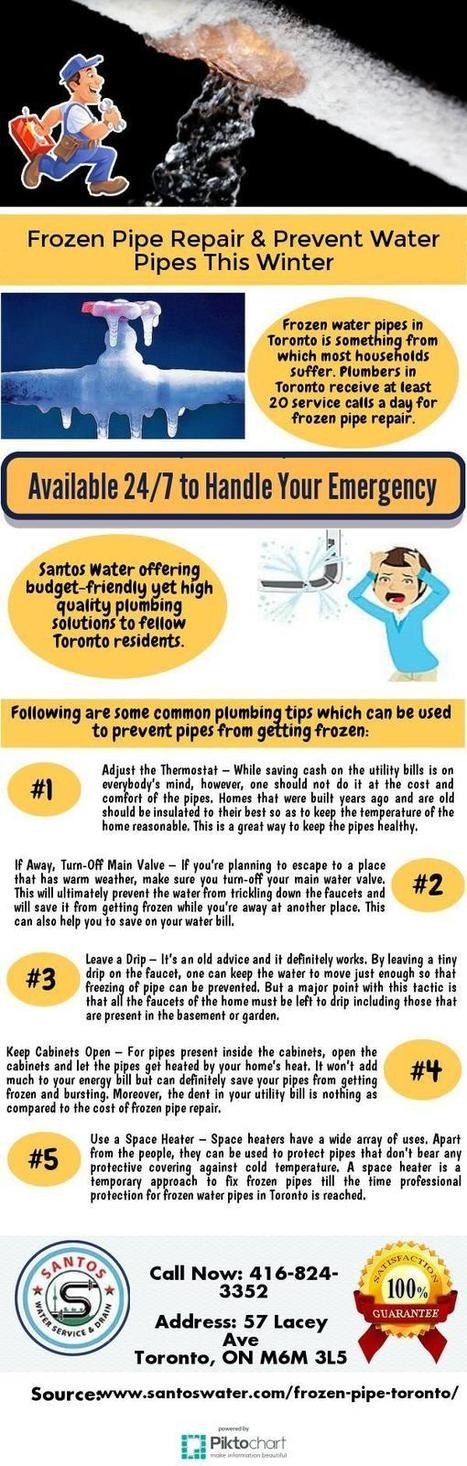 Frozen Pipe Repair & Prevent Water Pipes This Winter | Toronto Plumbing Repair | Scoop.it