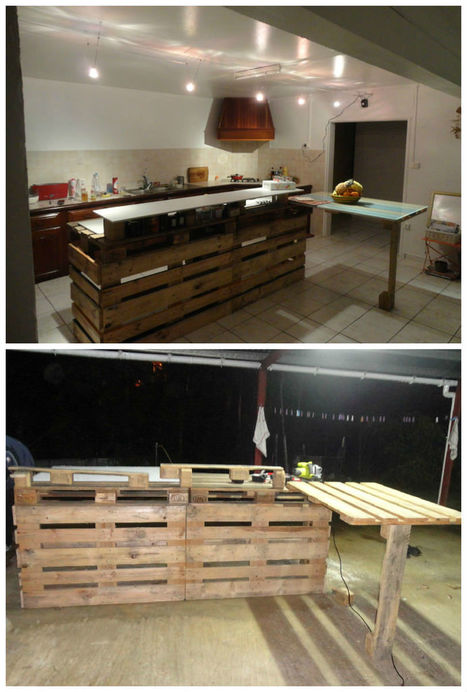 Pallet Kitchen Countertop | Upcycled Objects | Scoop.it