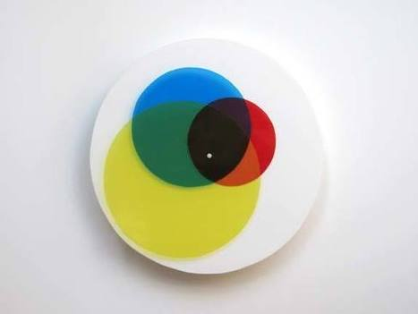 Mixing Primary Colours Clock #art #colour #time #clock | Art | Scoop.it