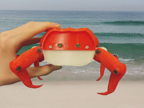 Student Designs 3D-Printed Crab Robot | 3D Virtual-Real Worlds: Ed Tech | Scoop.it