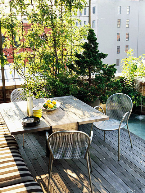 Balcony Gardening Ideas For Gathering | Anebref.com | A. Perry Design Lounge | Scoop.it