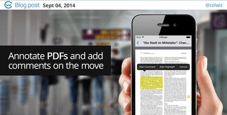 New Feature: Annotate PDFs from your iOS device! | colwiz | Blog | Research Management | Scoop.it