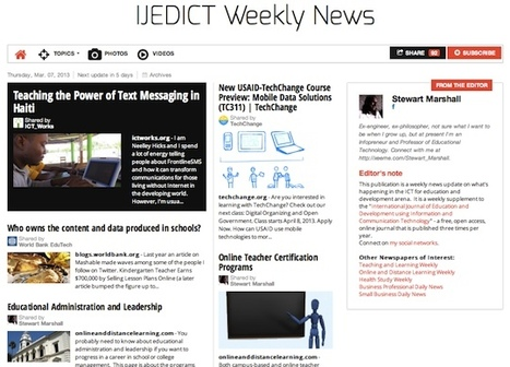 March 7, 2013: IJEDICT Weekly News is out | ICT for Education and Development | Scoop.it