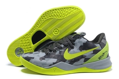 Nike Kobe 8 System Grey Fluorescent Green Basketball Shoes For Sale No Tax | Kobe 8 All Star | Scoop.it