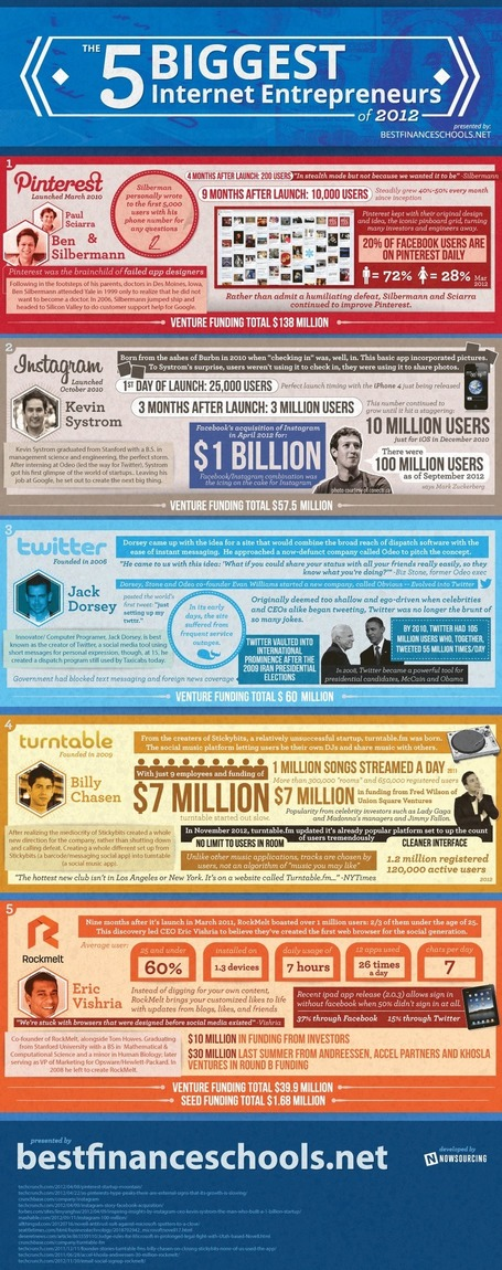 Successful Online Business Pioneers of 2012 [Infographic] | Personal Branding and Professional networks | Scoop.it