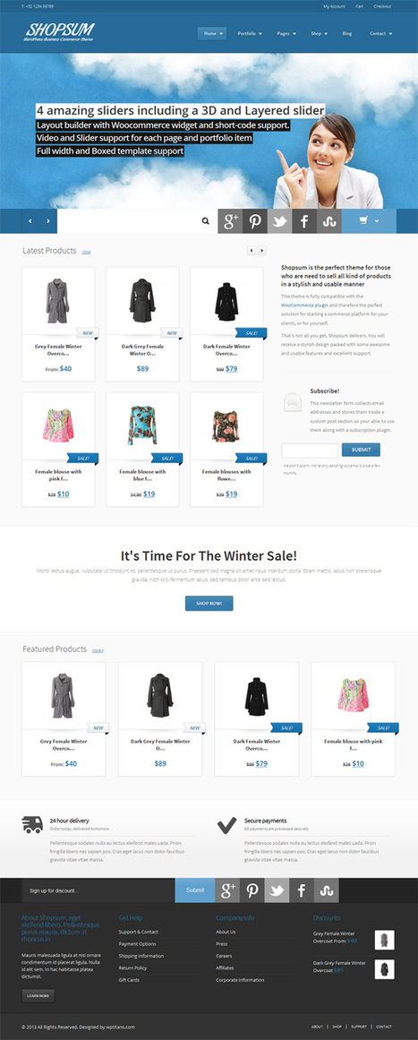 Shopsum, WordPress Premium eCommerce Business Theme | WP Download | Michal | Scoop.it