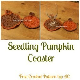 Seedling Pumpkin Coaster | Crochet | Scoop.it