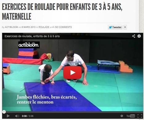 Exercices de roulade pour enfants de 3 à 5 ans, maternelle | Actibloom Sport | Actibloom, Vidéos d'éveil au sport pour enfants | Scoop.it