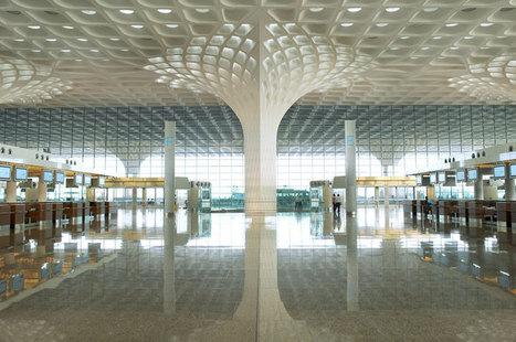 [Mumbai, India] SOM unites mumbai airport terminal with fractal roof canopy - designboom | architecture & design magazine | The Architecture of the City | Scoop.it
